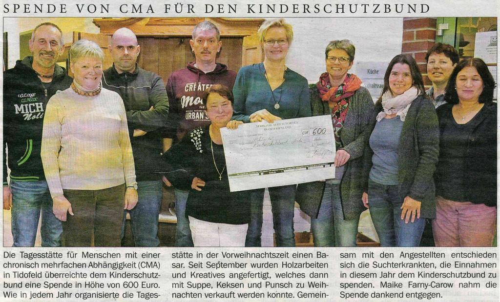 CMA Spende an Kinderschutzbund